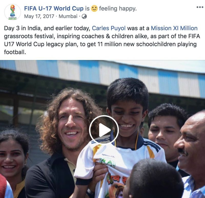 FIFA World Cup Winner Carles Puyol enjoying his time in India