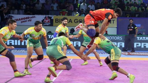 Pawan Kumar's thunderous show enabled the Bulls to a thrilling win