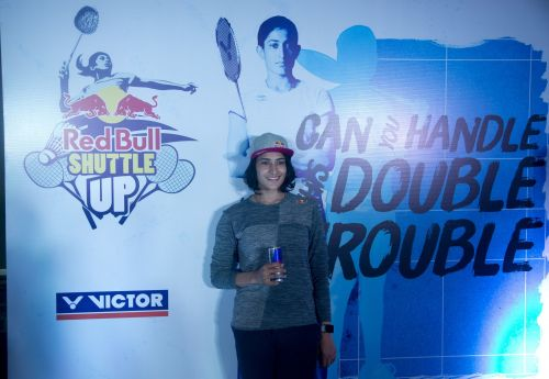 Red Bull Athlete Ashwini Ponnappa at the Red Bull Shuttle Up Launch