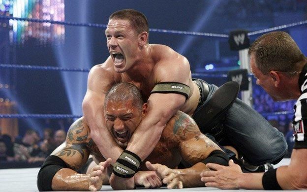 Cena and Batista were unwilling partners!