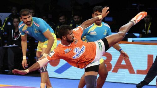 G.B.More came off the bench to score 10 raid points for Pune