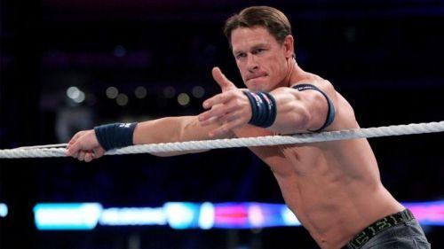 Cena at WWE Super Show-Down in Melbourne, Australia.