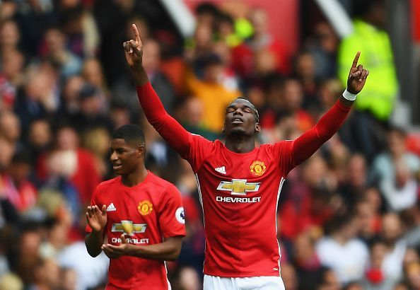 Pogba has shown his frustrations with his manager on the pitch this season