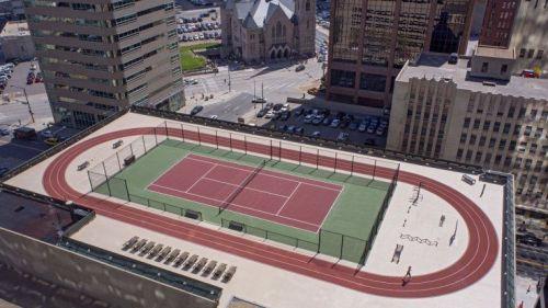 Grand Hyatt Denver Rooftop Track and Tennis Court