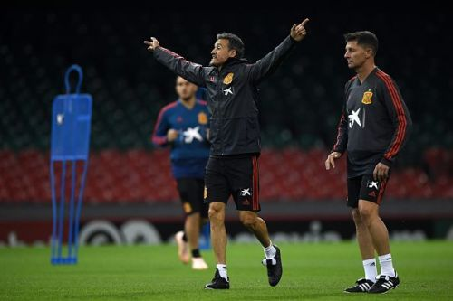 Spain could be celebrating qualifying from the Group Stages on Monday