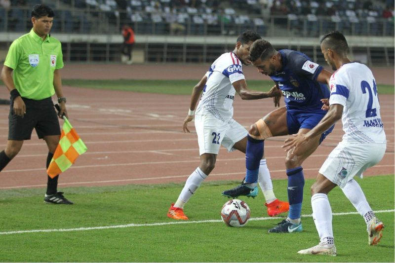 The Chennaiyin FC midfielder clearly won the battle in the middle of the park and kept the likes of Bikramjit Singh and Zuiverloon quiet throughout the game (Image Courtesy: ISL)