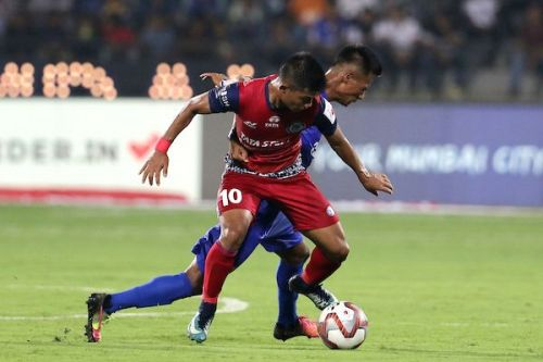 Jerry in action during the game [Credits: ISL]