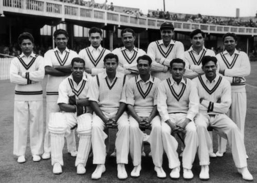 Imtiaz Ahmed (First from left on the bench)