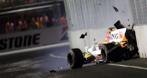The infamous crashgate in the 2008 Singapore Grand Prix