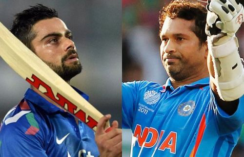 Two generations of Indian batting