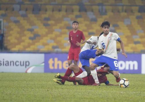 India U16 team skipper Vikram Partap in action