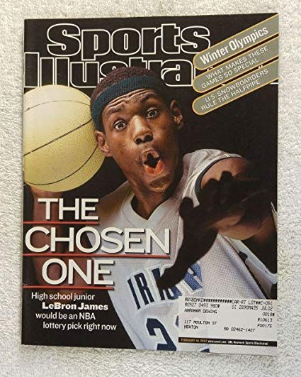 LeBron on the cover of SI at age 17