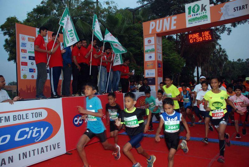 10K INTENCITY Flag-Off at Balewadi sports complex, Pune