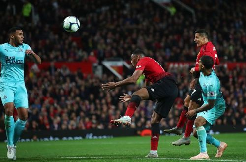 Alexis Sanchez scored only his fourth goal for Manchester United in the game against Newcastle United