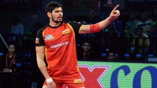 Kumar was the first player to score 30 points in a VIVO Pro Kabaddi match when he picked up 32 points against U.P. Yoddha in Season 5