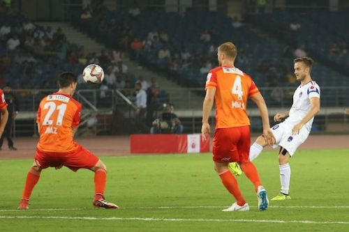 Mihelic showed glimpses of what he is capable of doing in the match against FC Pune City (Image Courtesy: ISL)