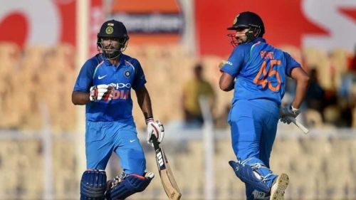 Image result for India vs West Indies 4th ODI Brabourne Rohit Sharma