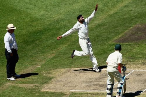 Image result for harbhajan singh bowling action