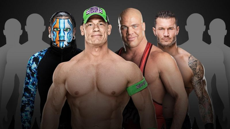 Who will lock horn with John Cena, Jeff Hardy, Randy Orton, and Kurt Angle at the WWE World Cup?