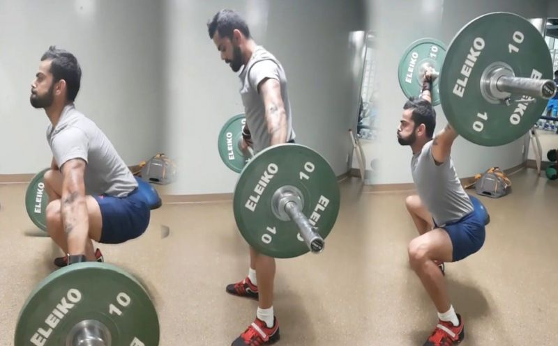 Virat Kohli is incredibly regular with his strength and conditioning work in the gym.