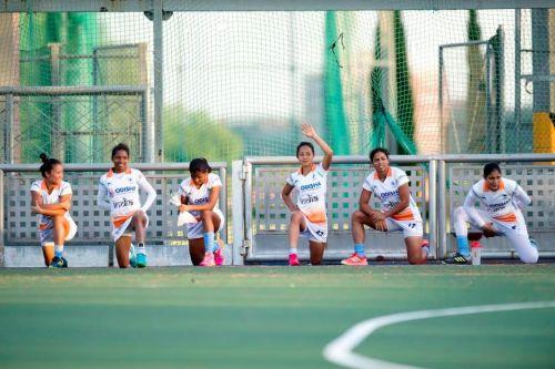Indian Women's Hockey Team During Training