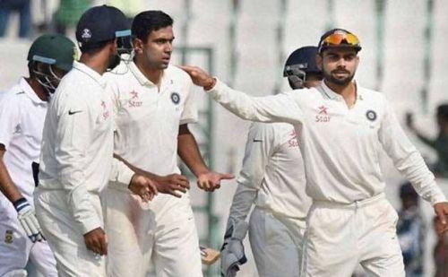 Indian team at Rajkot