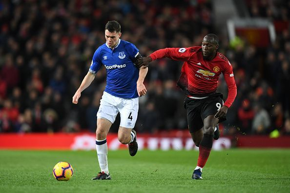 Romelu Lukaku came on as a substitute against Everton