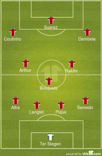 4-3-3 is the primary Valverde setup.