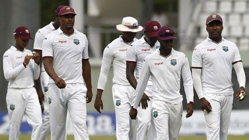 The West Indies team - Low on confidence