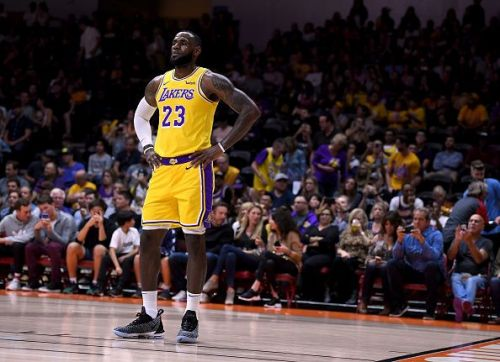 LeBron James for the Los Angeles Lakers