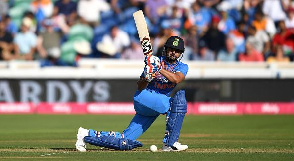 Despite failing to score at a quick rate in the ODI series vs England, Raina made sure he does not give away his wicket cheaply