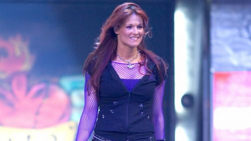 Lita during a 2004 episode of Monday Night RAW