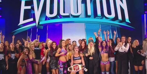 Evolution truly was a history-making night for WWE
