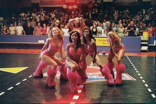 Candice Michelle was featured in Dodgeball