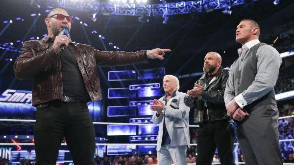 Evolution appeared on SmackDown Live 1000