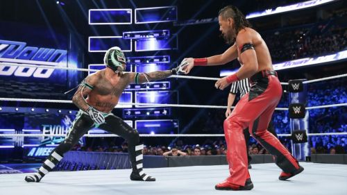 Rey Mysterio returned and fought the United States Champion