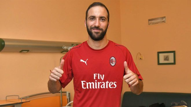 Higuain joined AC Milan this summer. (Image: Marca)