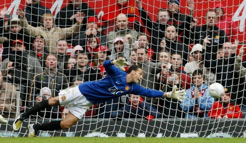 Ferdinand tried saving the penalty but couldn't do so.