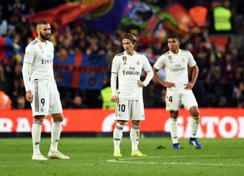 A depleted Madrid side