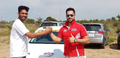 Vamcy Merla [L] with Gaurav Gill during the training sessions