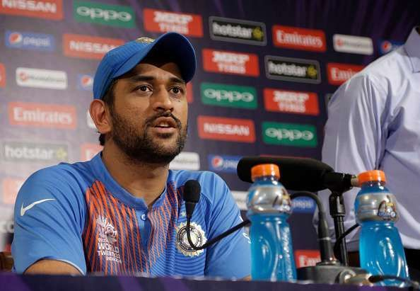 MS Dhoni at a press conference during the WT20 2016