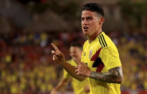 James Rodriguez scored in the 34th minutes with a curling shot to break the deadlock in the first half
