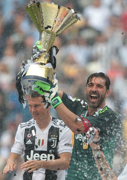 Buffon went on to lift numerous titles with Juventus