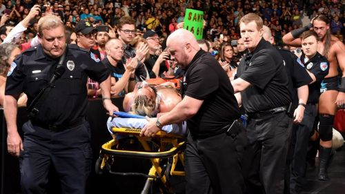 Even though WWE Superstars aren't trying to hurt one another, accidents happen