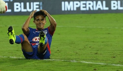 Sunil Chhetri goal miss Bengaluru vs Jamshedpur ISL highlights