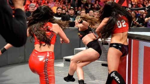 The Bellas had some strong words after RAW