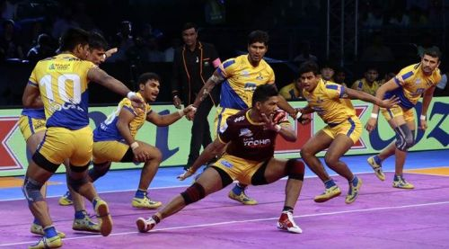 Chavan played for the Thalaivas