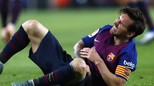 Messi suffered an injury against Sevilla on Saturday