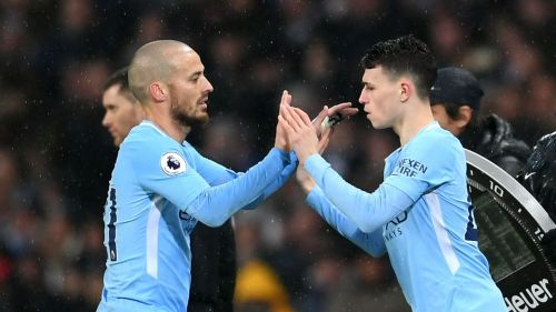 David Silva and Phil Foden - cropped