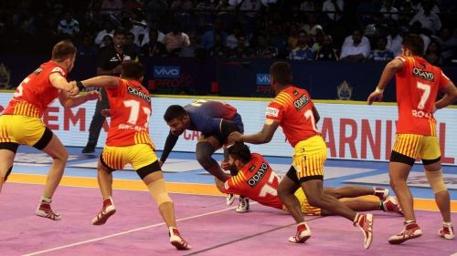 The Gujarat Fortunegiants and Dabang Delhi match finished in a draw